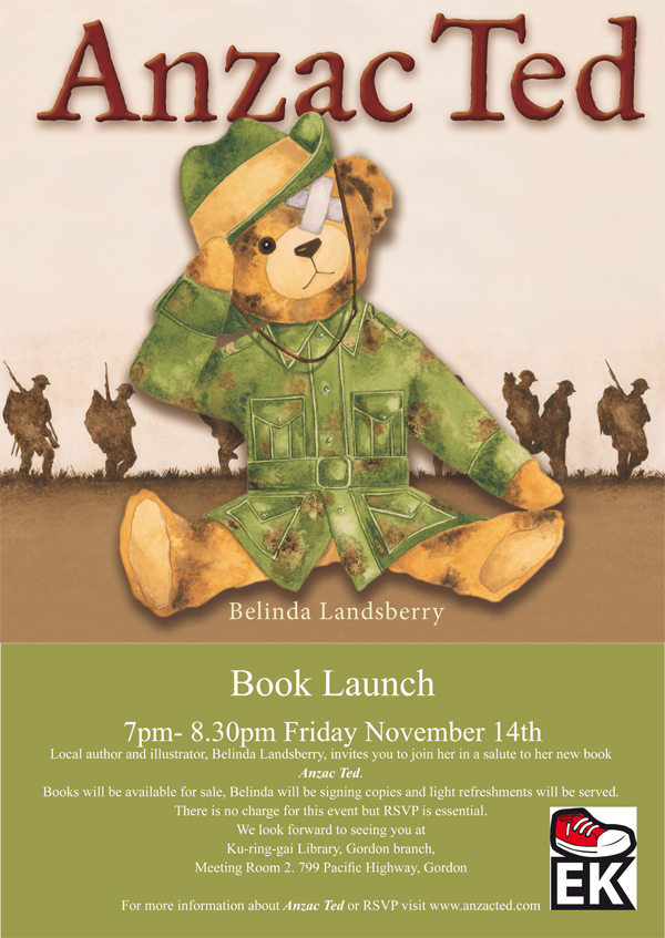 Anzac Ted Launch Poster R