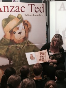 Reading Anzac Ted to the children at Normanhurst West